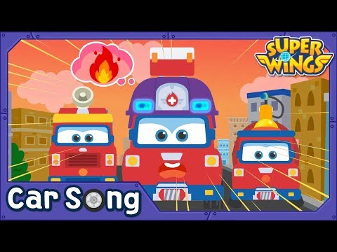 Fire Truck | English Song | SuperWings Songs for kids