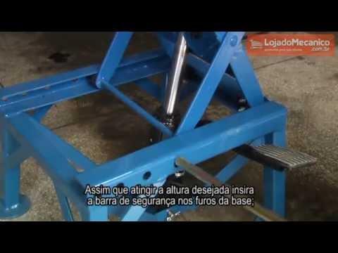 Elevador Hidráulico para Motocross 130Kg - Video