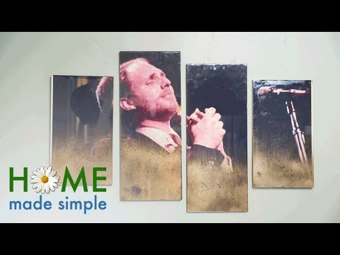 Aged Photo Wall Art | Home Made Simple | Oprah Winfrey Network
