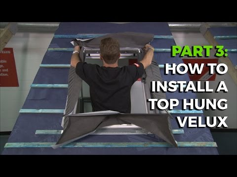How to install a Velux Top-Hung Roof Window - Part 3