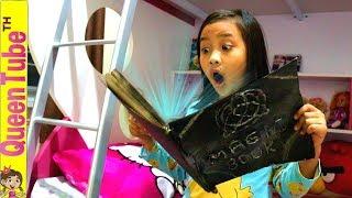 คาถาเปลี่ยนเสียง การผจญภัย ของน้องควีนเด็กตลก Ep.6   Funny Kid Adventure Magic Book fun for kids
