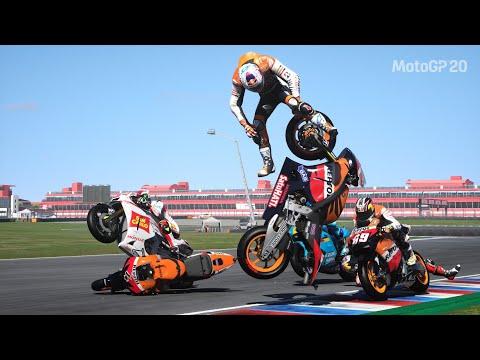 MotoGP 20 - Deadly Crashes (PS4 HD)