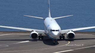 HEAVY TAKE OFF Using the entire runway (Enter Air B737) in Madeira