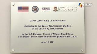 """Amfiteatrul """"Martin Luther King Jr"""", renovat cu peste 50.000 de dolari - inaugurat de însărcinatul cu afaceri al SUA"""
