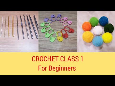 CROCHET CLASS 1 For Beginners in Tamil - ShadesOfCreativity