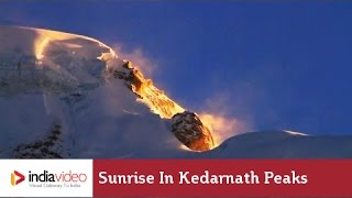 Sunrise in Kedarnath peaks