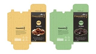 PACKAGING DESIGN Cioccolata / Chocolate - Tutorial Adobe  Illustrator CC - (section A)