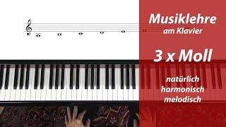 Moll Tonleitern – Endlich Anschaulich Erklärt – Natürlich – Harmonisch – Melodisch