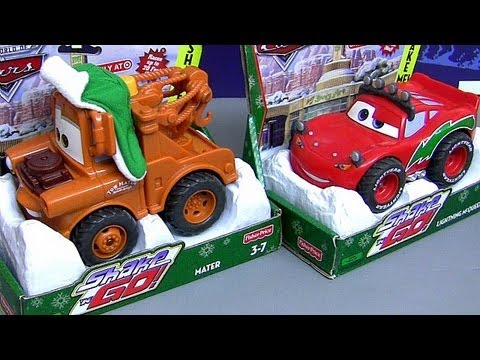 Shake N Go Winter Mater CARS 2 With Christmas Lightning Mcqueen