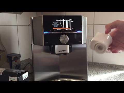Wasserfilter wechseln: Siemens EQ9 S500 Kaffeevollautomat
