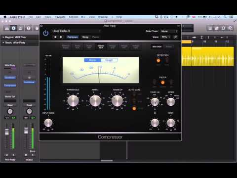 Logic Pro X (10.1) tutorial – Compressor