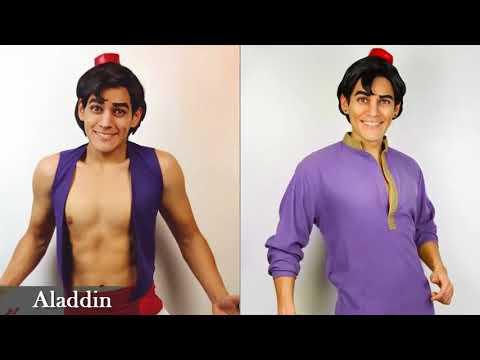 """El hombre que puede """"convertirse"""" en cualquier personaje de Disney"""