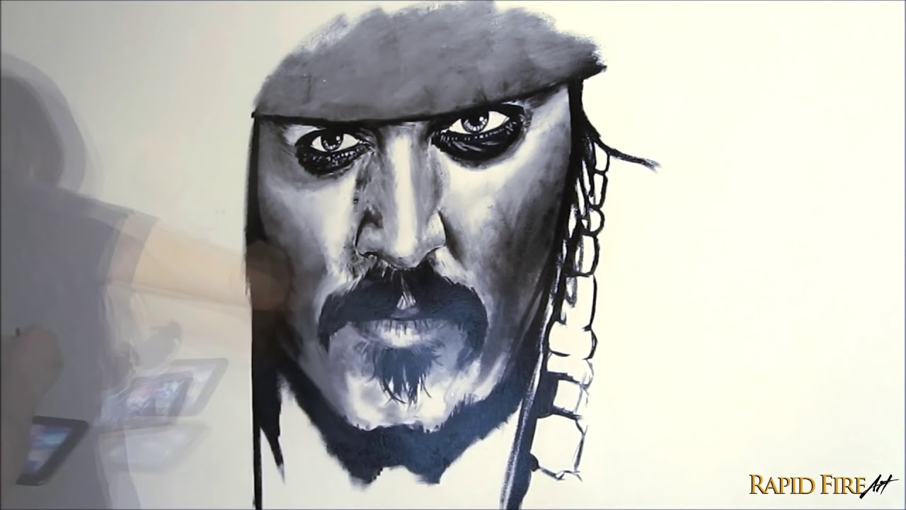 pirates of the caribbean wall art by johnny