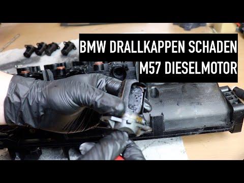 BMW M57 Diesel Ansaugbrücke Drallklappen Entfernung Stilllegen mit Blindabdeckung