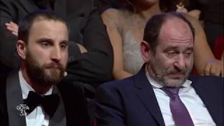Dani Rovira Con Antonio De La Torre Y Karra Elejalde En Los Goya 2017