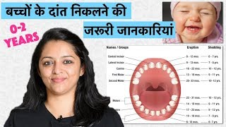 बच्चों के दांत निकलने की जरूरी जानकारियां (0-2 YEARS) || BABY TEETHING PROCESS