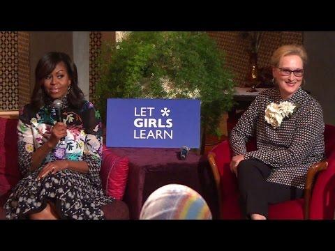 Michelle Obama soutient l'éducation des jeunes marocaines