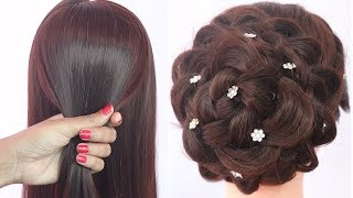 easy hairstyle for karva chauth   messy bun   new hairstyle   ladies hair style   hairstyle