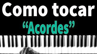 Como tocar acordes Maiores no teclado   Aula de teclado Leizer #1