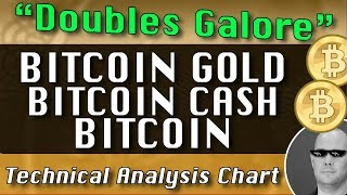 "Jan-31 ""Doubles Galore"" Part One BITCOIN GOLD : BITCOIN CASH : BITCOIN Technical Analysis Chart"