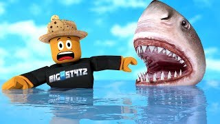 Dont Go Swimming In This Water Roblox Shark Bite