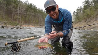 Fly Fishing: Wild Rainbow Trout  in Oklahoma