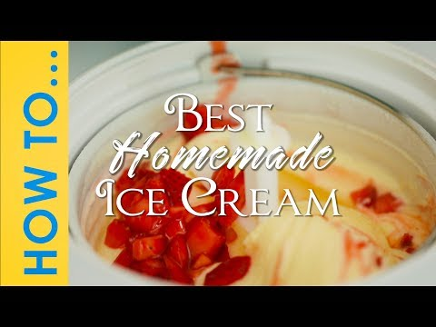 Video Ice Cream Recipe - How To Make Homemade Ice Cream - Ice cream machine  recipes