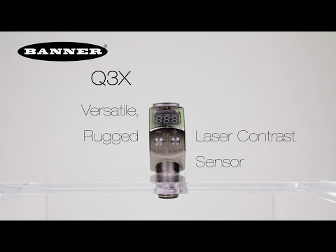 Sensor de Contraste a Laser Q3X Resistente e Versátil