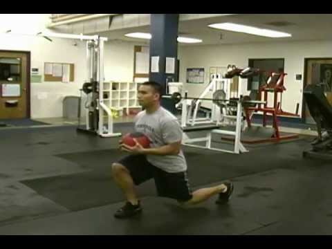Medicine Ball Split Squat Jumps
