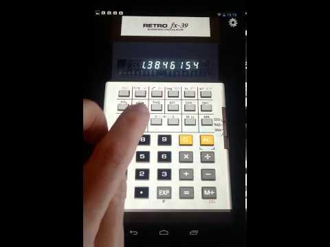 Video of 3D Calculator RetroFX