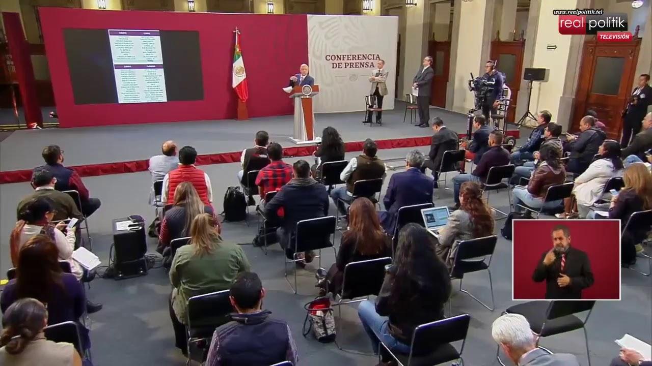 México: Conferencia de prensa del presidente Andrés Manuel López Obrador