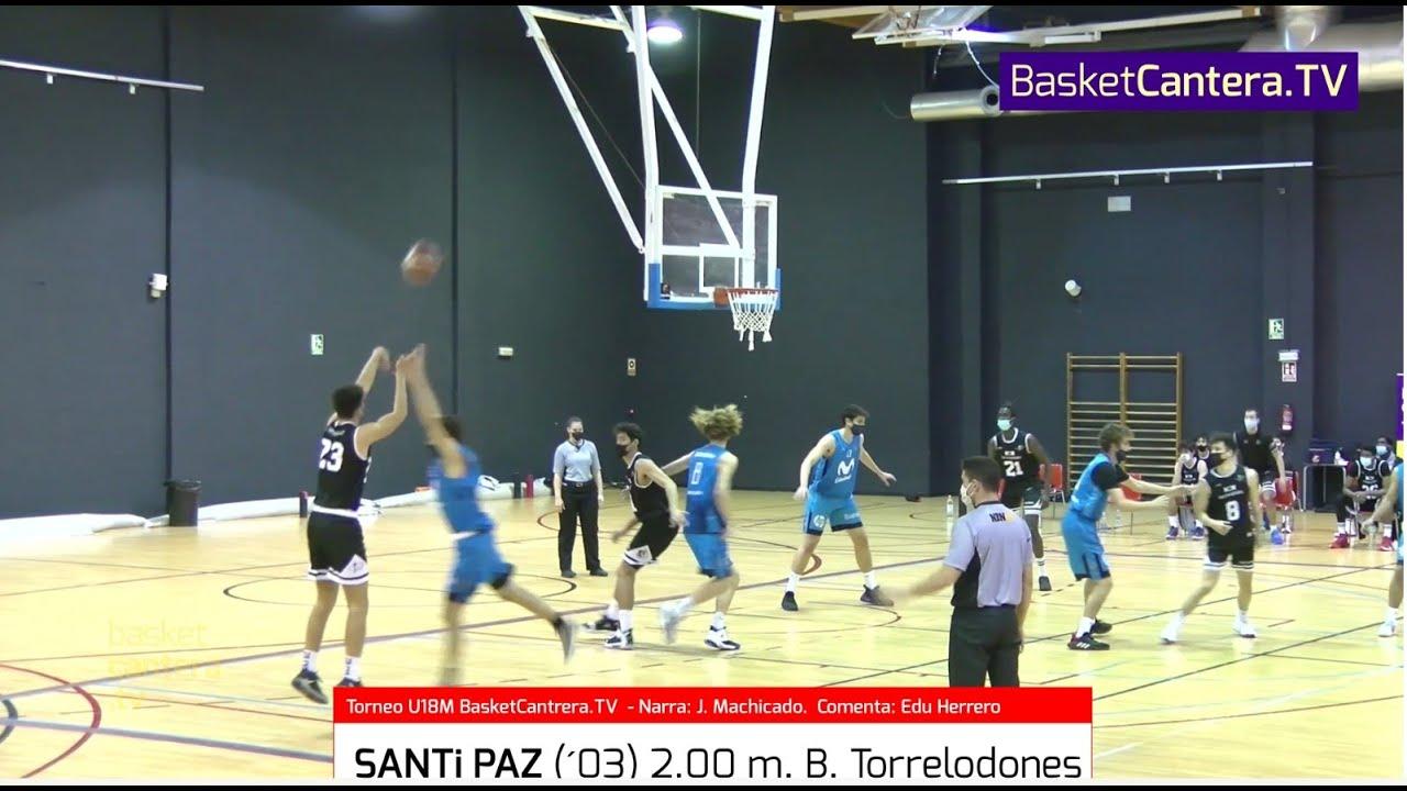 SANTi PAZ (´03) 2.00 m. B. Torrelodones. I Torneo BasketCantera.TV
