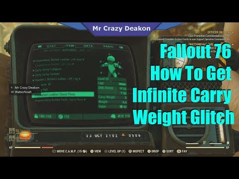 UNLIMITED WEIGHT CARRY GLITCH (PC/XBOX/PS4) | FALLOUT 76