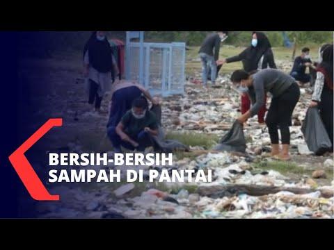 aksi bersih-bersih pantai tanjung kait tangerang