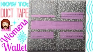 How To Make A Duct Tape Womens Wallet For Beginners!!