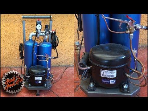 Como hacer un Compresor de Aire Silencioso  / Silent Air Compressor |DIY