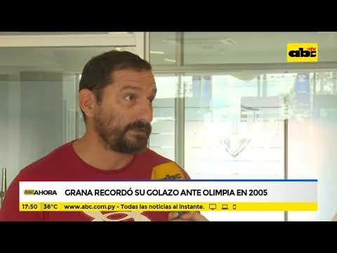 Grana recordó su golazo ante Olimpia en el 2005