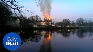 Shocking footage of fire at five-star Loch Lomond hotel - Daily Mail