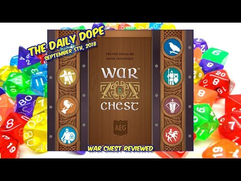 'War Chest' Reviewed on The Daily Dope for September 5th, 2018