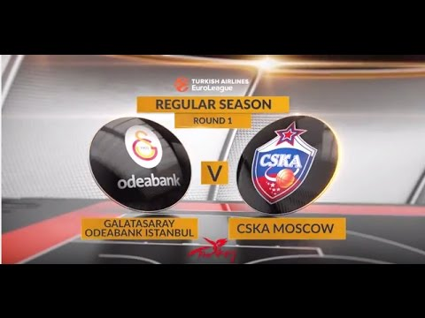 EuroLeague Highlights RS Round 1: Galatasaray 84-109 CSKA Moscow
