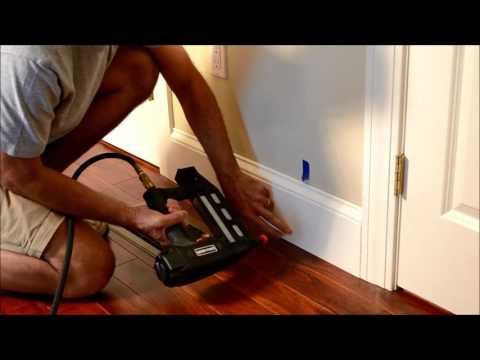 How to Reinstall Old Baseboard Trim after Wood Floor Installed Video