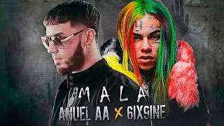 Anuel Aa Ft. 6ix9ine - Mala.   .