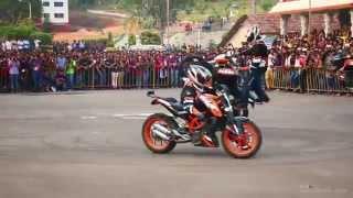 KTM Stunt Show -  THROTTLERZ Mangalore MITE College, Mangalore - March 2015