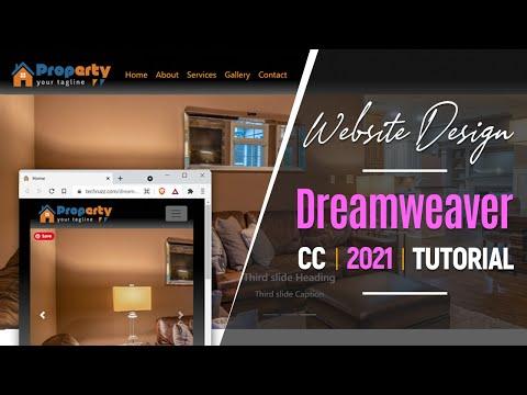 How to Make a Responsive Website Design in Dreamweaver CC 2021   Beginners Tutorial