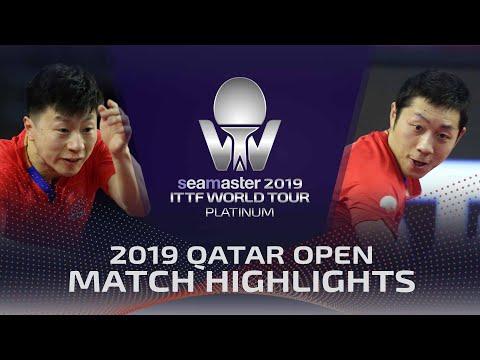 Ma Long vs Xu Xin | 2019 ITTF Qatar Open Highlights (1/2)