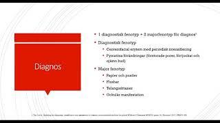 Diagnostiska krav för rosacea
