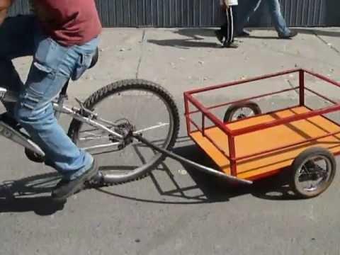 Funcional remolque de carga para bicicleta