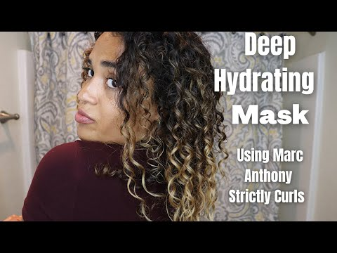 Deep Hydrating Mask using Marc Anthony Strictly Curls