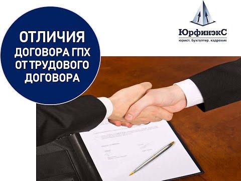 Отличия  договора ГПХ от трудового договора.