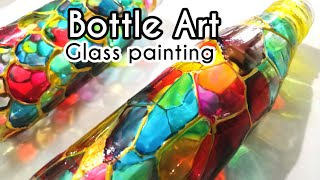 Bottle Art/ Glass Painting On Bottle/ Tutorial/ Paint With Me